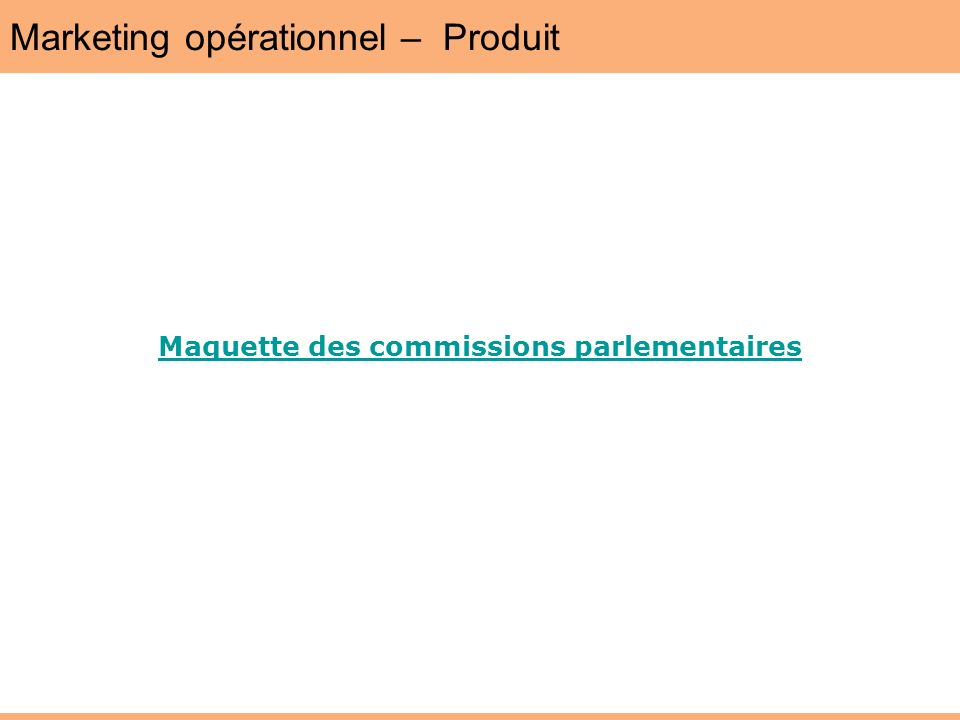 Marketing opérationnel – Produit