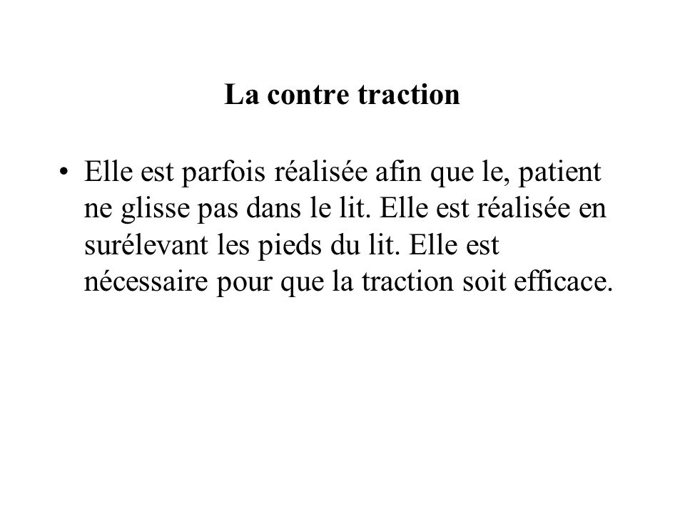 La contre traction