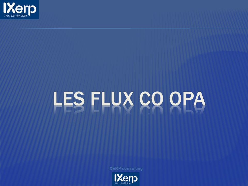 Les flux CO OPA IXERP consulting