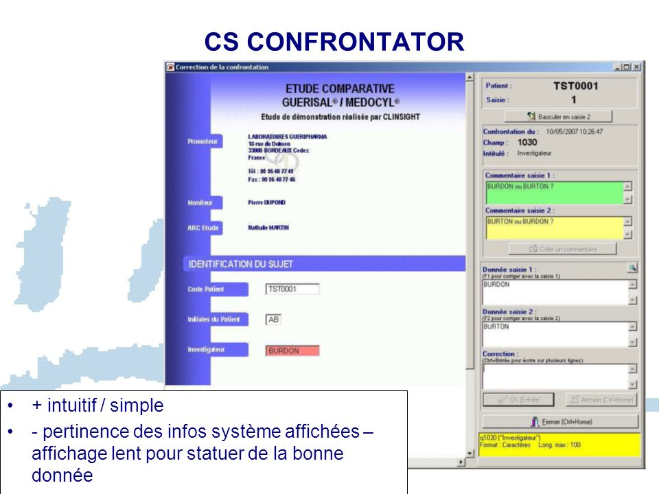 CS CONFRONTATOR + intuitif / simple