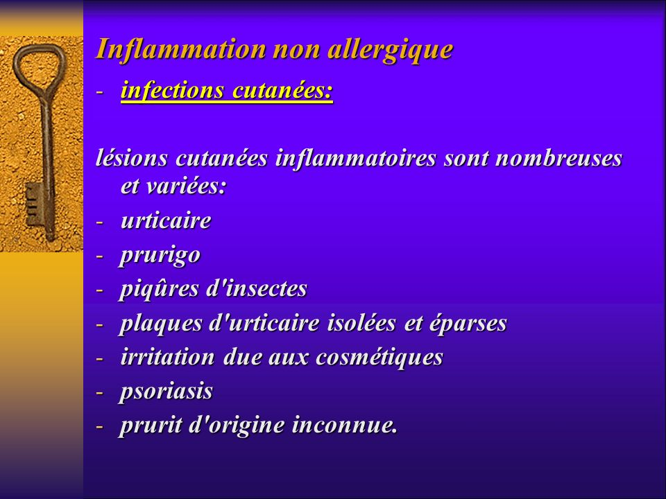 Inflammation non allergique