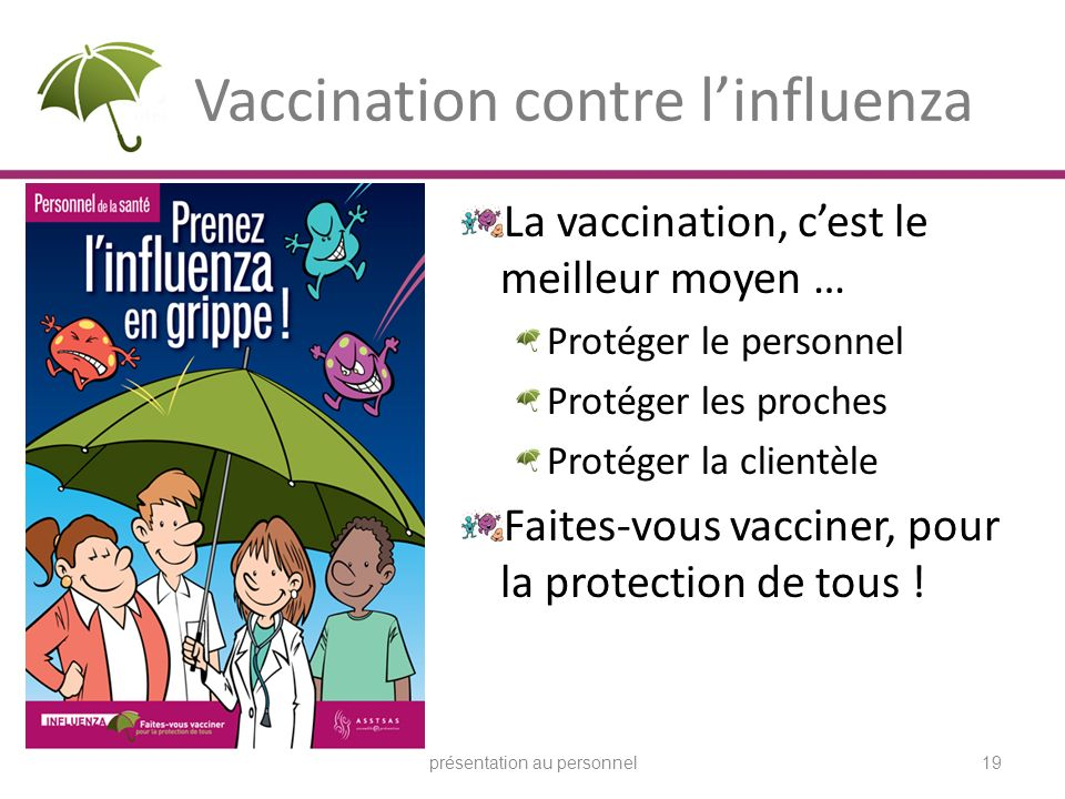 Vaccination contre l'influenza