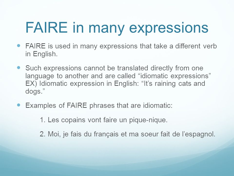 FAIRE in many expressions
