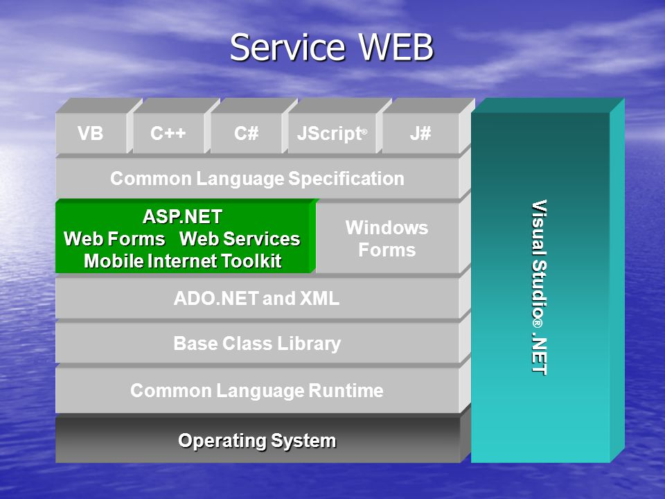 Service WEB Operating System Common Language Runtime