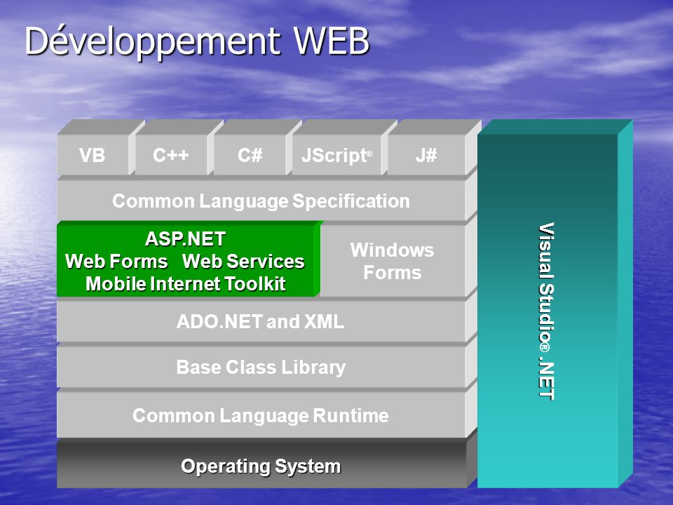 Développement WEB Operating System Common Language Runtime
