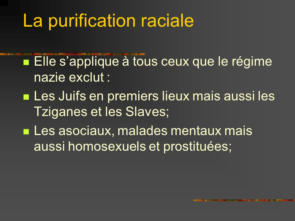 La purification raciale