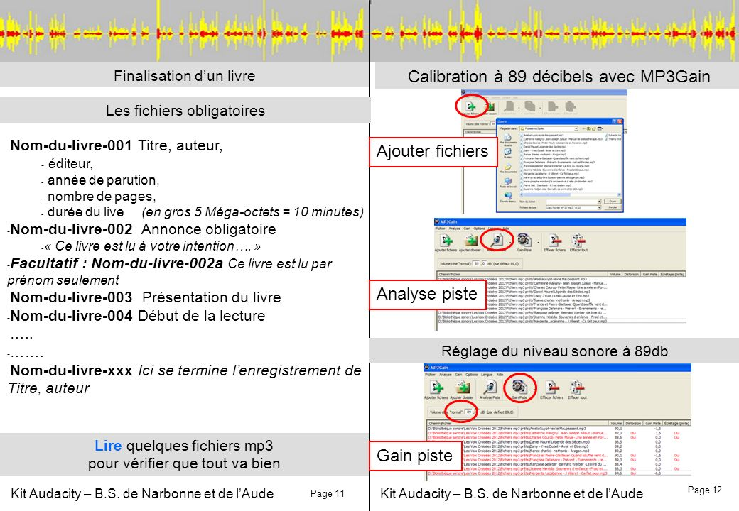 Calibration à 89 décibels avec MP3Gain