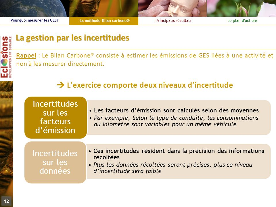 La gestion par les incertitudes