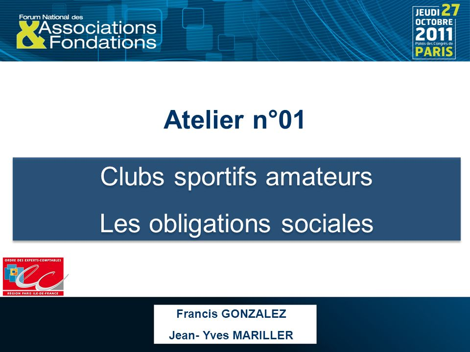 Clubs sportifs amateurs Les obligations sociales