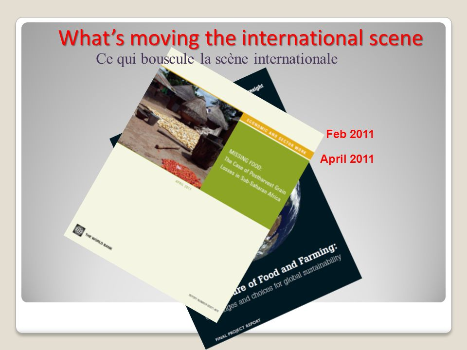 What's moving the international scene