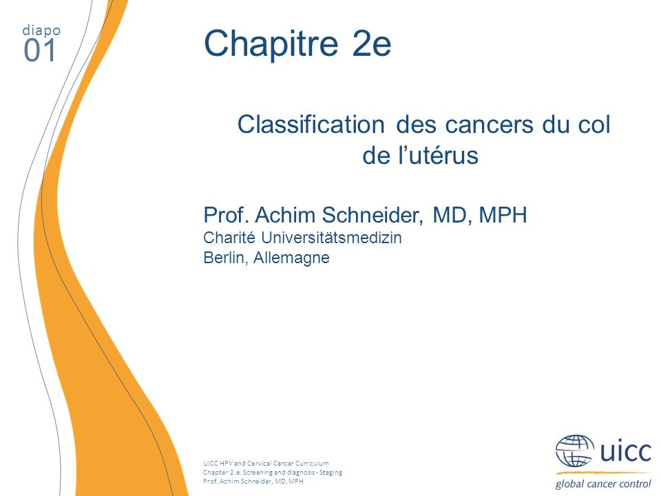 Classification des cancers du col