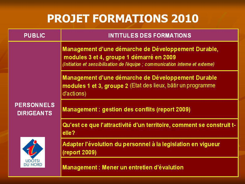 PROJET FORMATIONS 2010 10