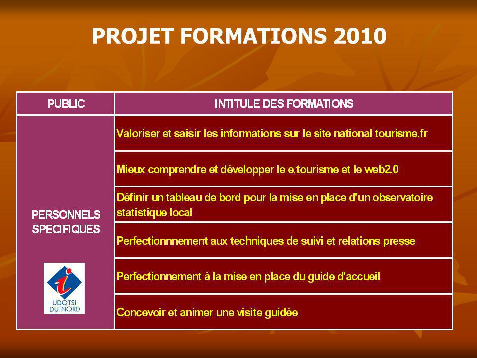 PROJET FORMATIONS 2010 11