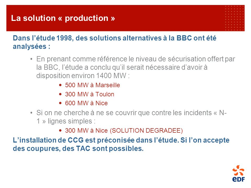La solution « production »