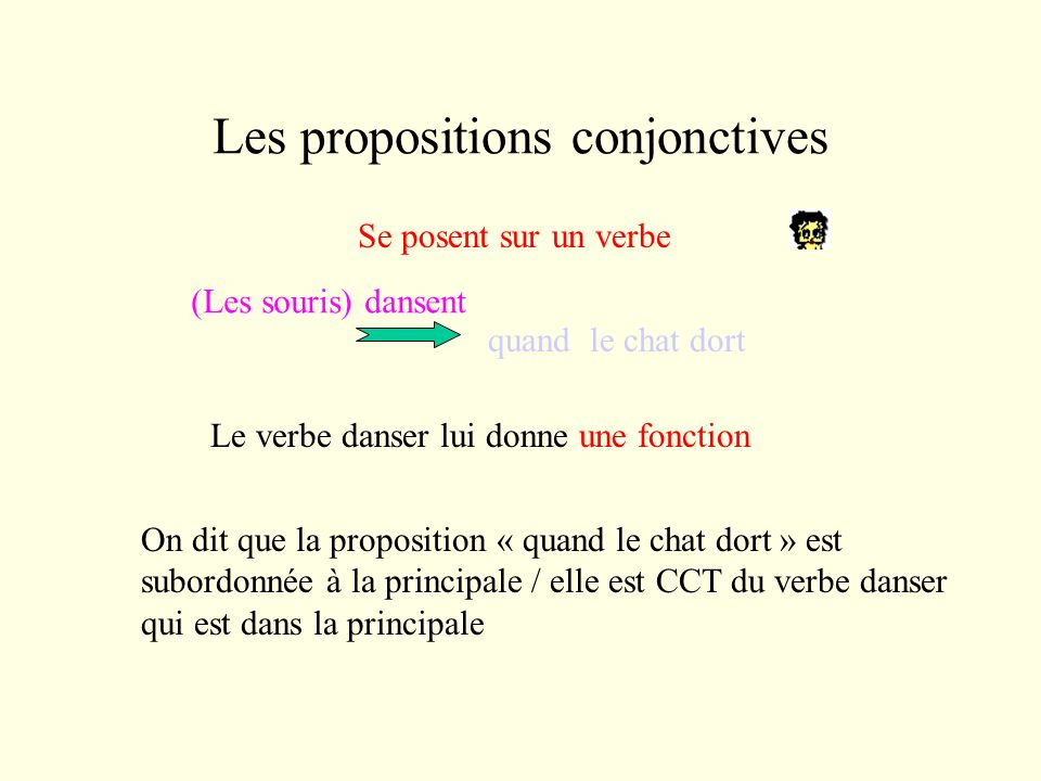 Les propositions conjonctives