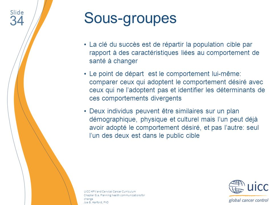 Slide Sous-groupes. 34.