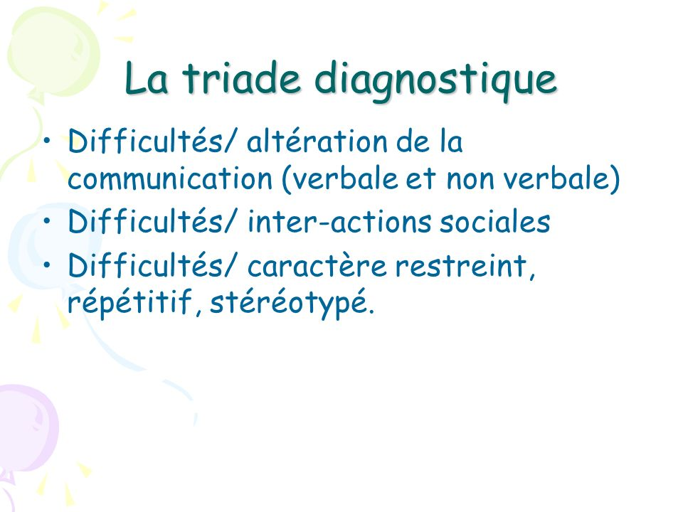 La triade diagnostique