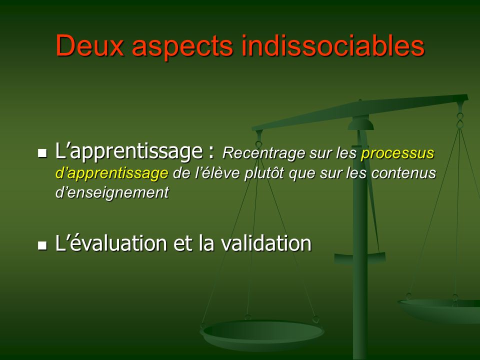 Deux aspects indissociables