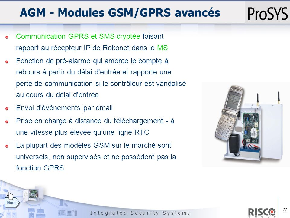 AGM - Modules GSM/GPRS avancés