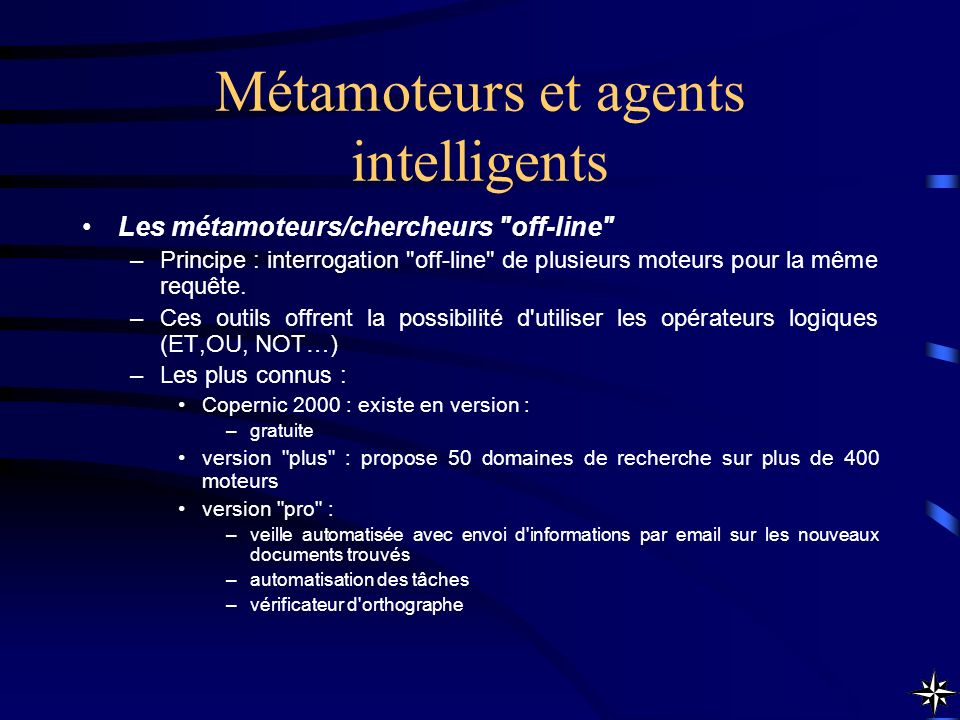 Métamoteurs et agents intelligents