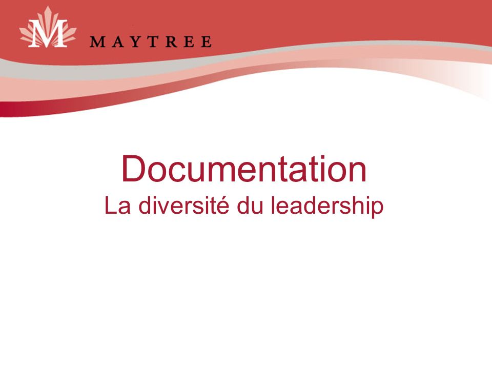 Documentation La diversité du leadership