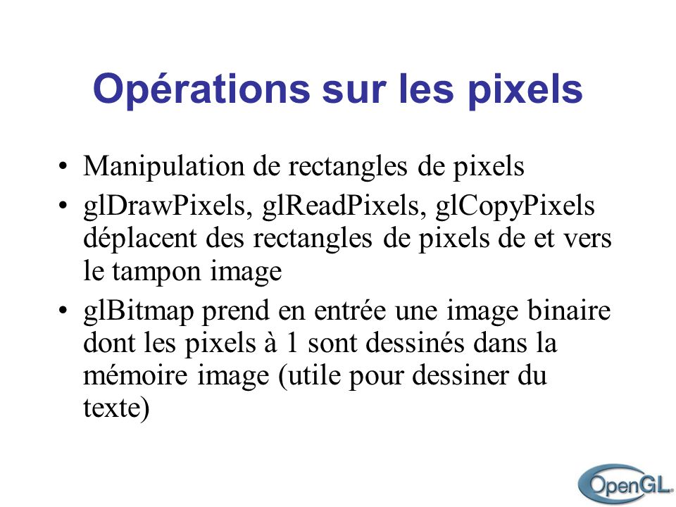 Manipulation de rectangles de pixels
