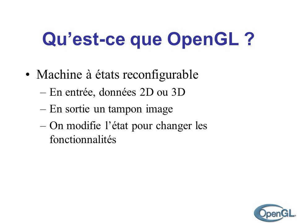 Machine à états reconfigurable