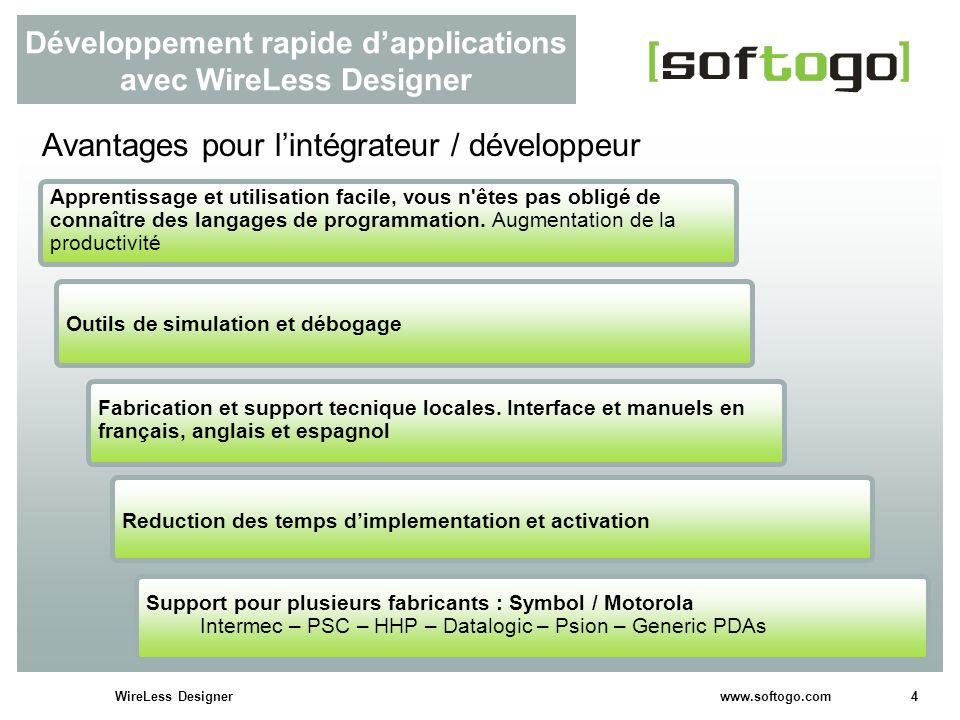 Développement rapide d'applications avec WireLess Designer