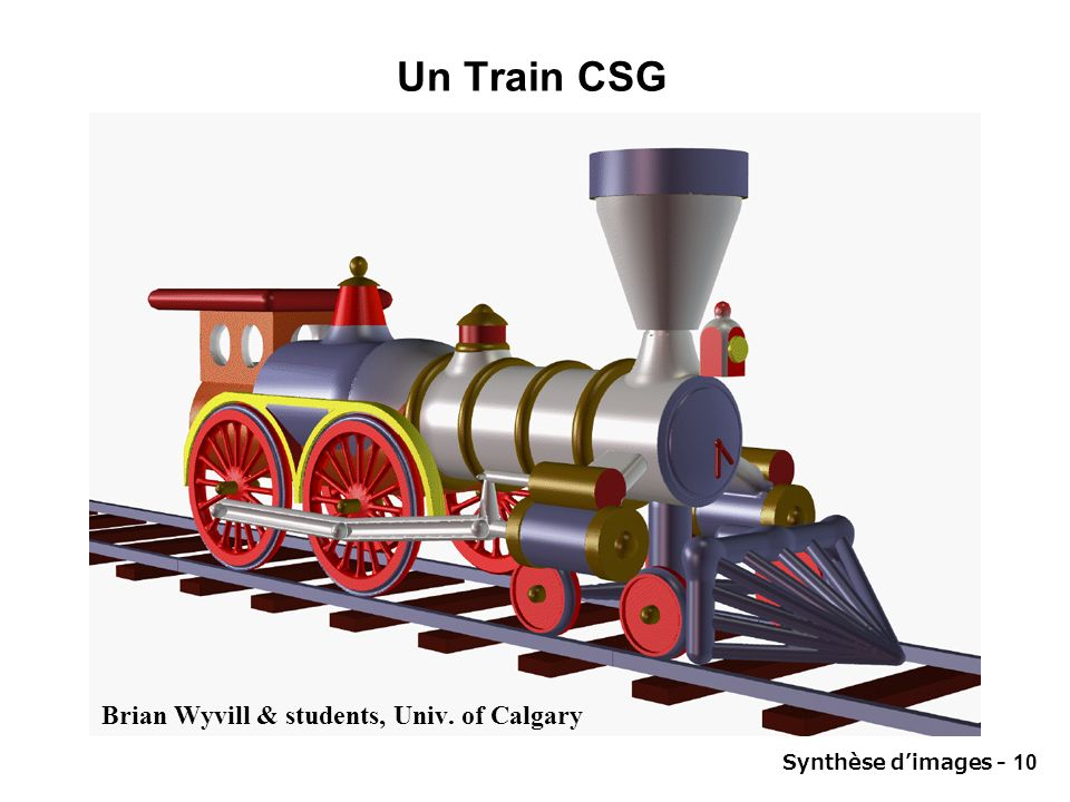 Un Train CSG Brian Wyvill & students, Univ. of Calgary
