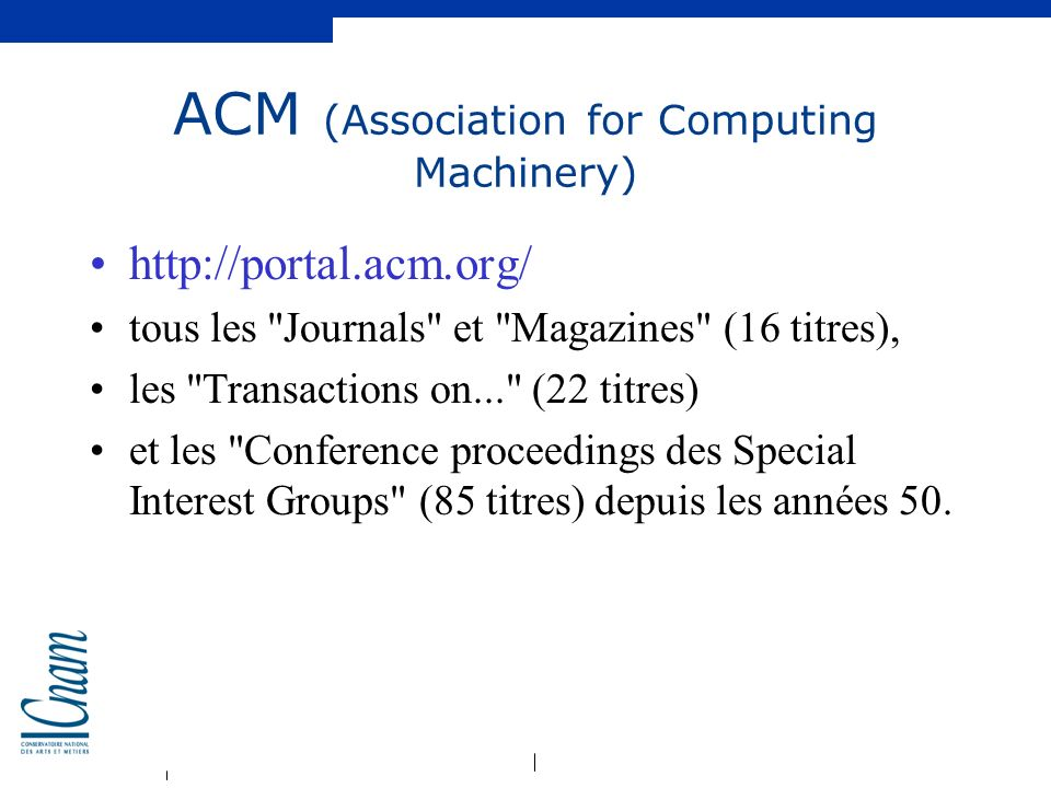 ACM (Association for Computing Machinery)