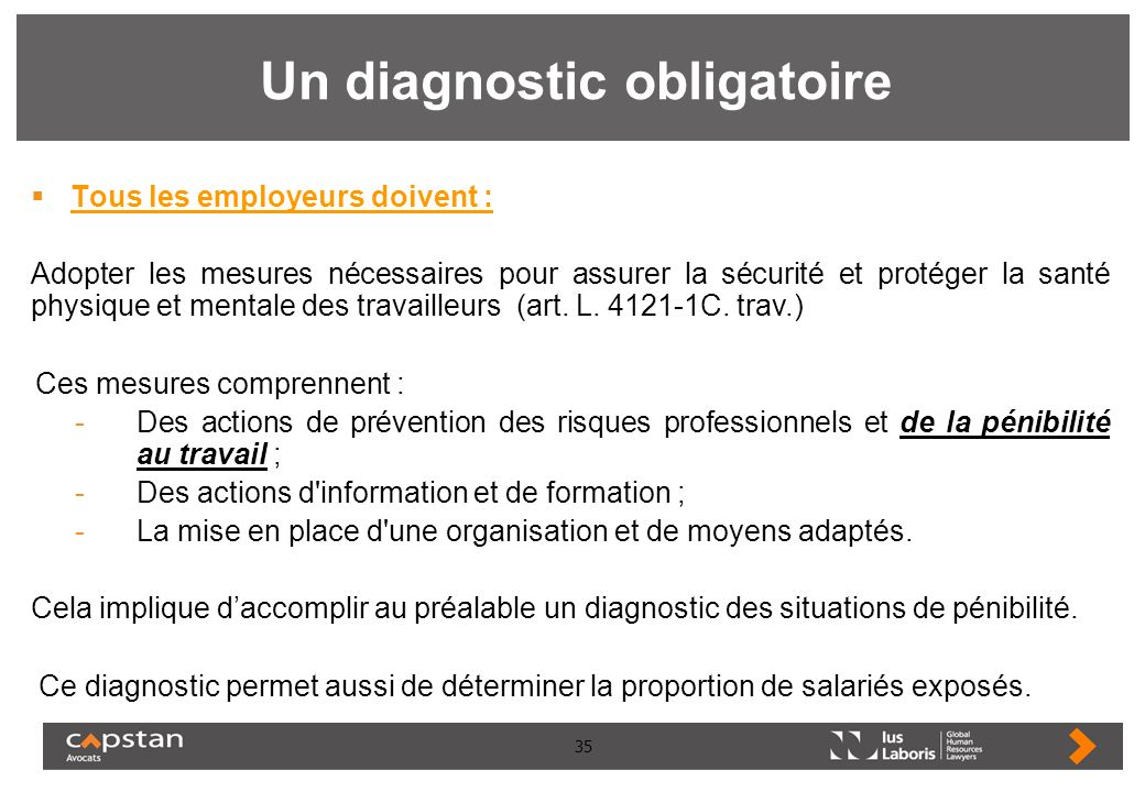 Un diagnostic obligatoire