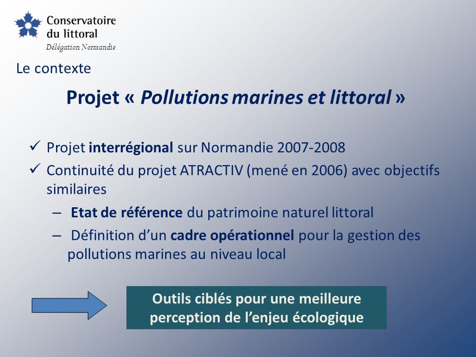 Projet « Pollutions marines et littoral »