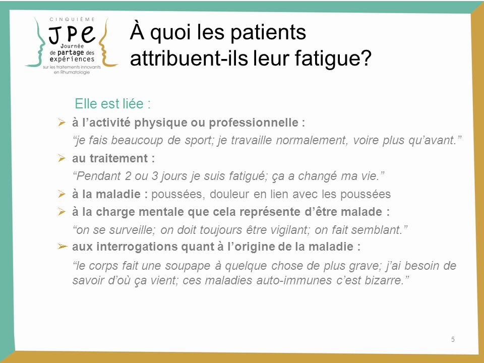 attribuent-ils leur fatigue