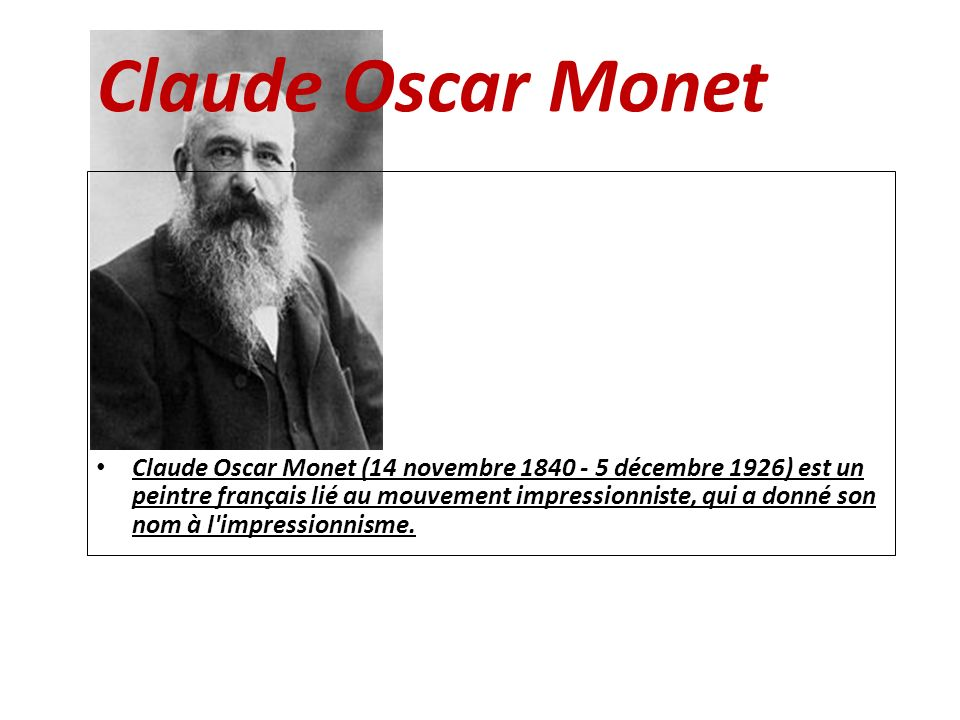 Claude Oscar Monet