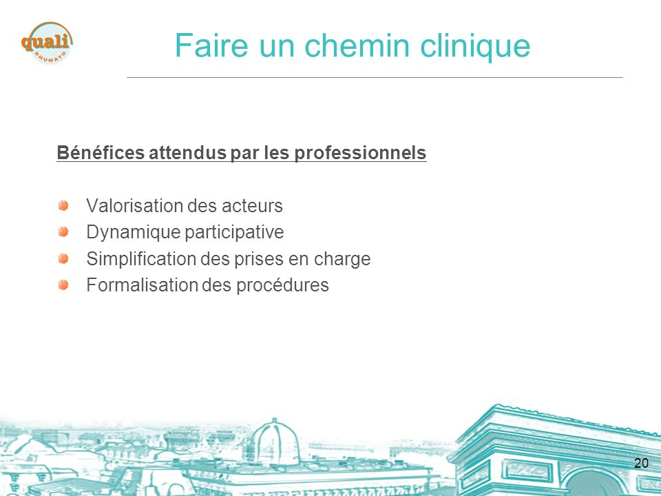 Faire un chemin clinique