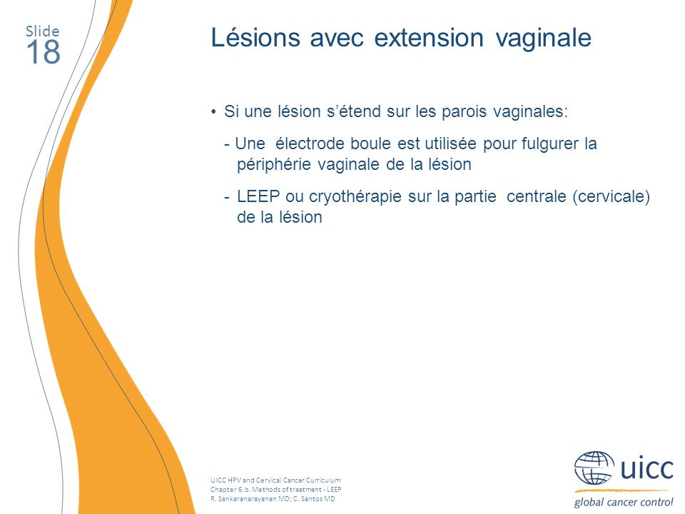 18 Lésions avec extension vaginale Slide