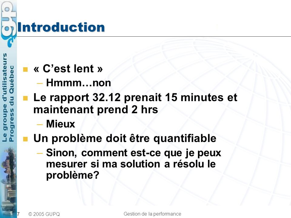 Introduction « C'est lent »