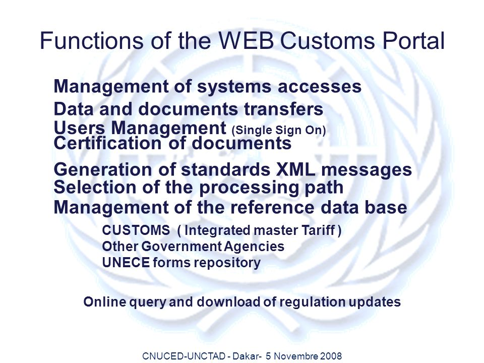 Online query and download of regulation updates