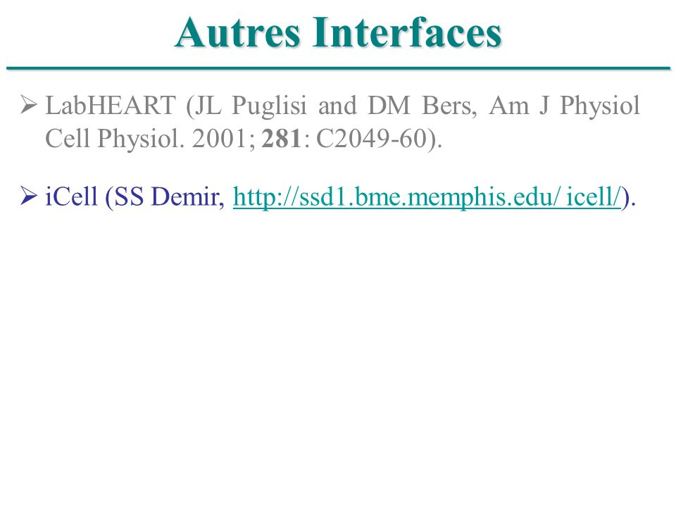 ______________________________ Autres Interfaces