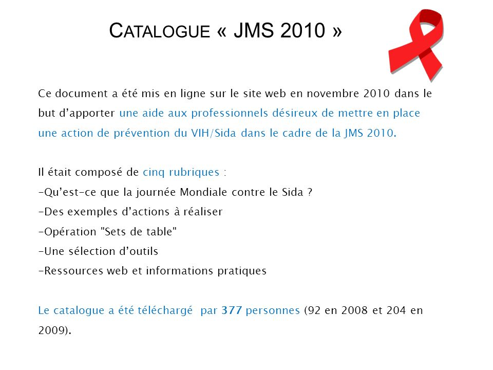 Catalogue « JMS 2010 »