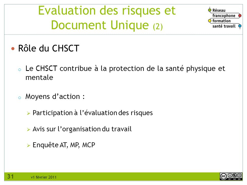 Evaluation des risques et Document Unique (2)