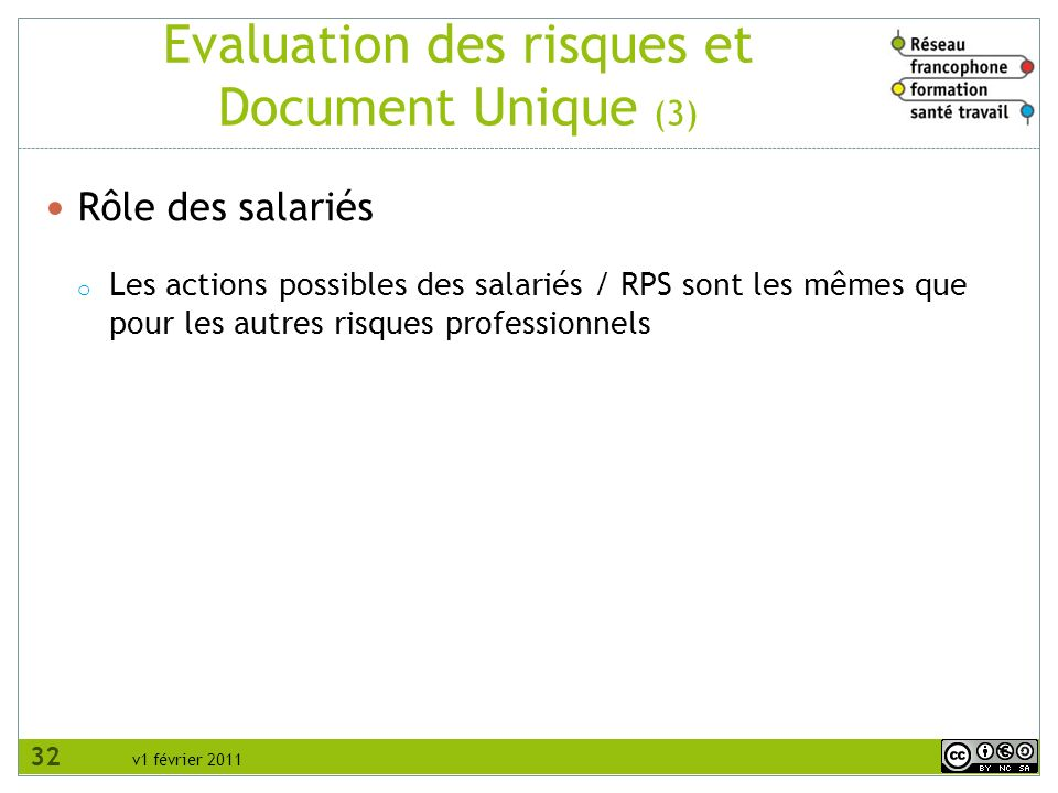 Evaluation des risques et Document Unique (3)