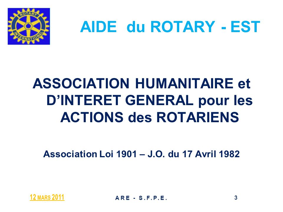 Association Loi 1901 – J.O. du 17 Avril 1982