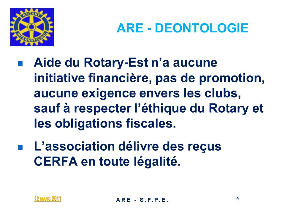 ARE - DEONTOLOGIE