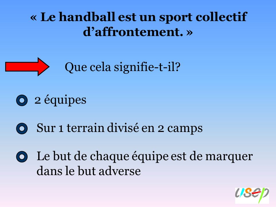 « Le handball est un sport collectif d'affrontement. »