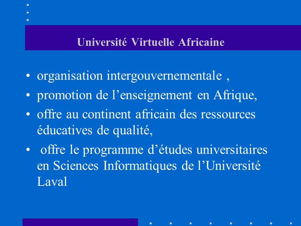 Université Virtuelle Africaine