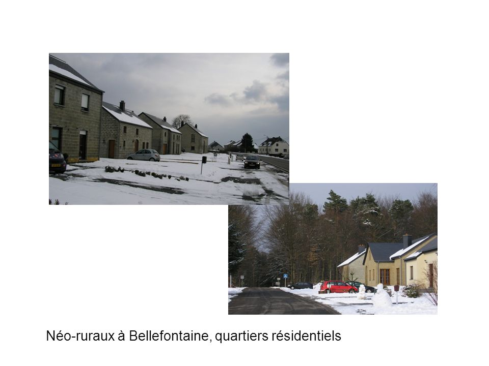 Néo-ruraux à Bellefontaine, quartiers résidentiels