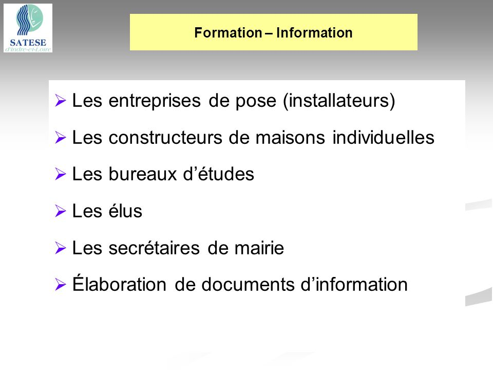 Formation – Information