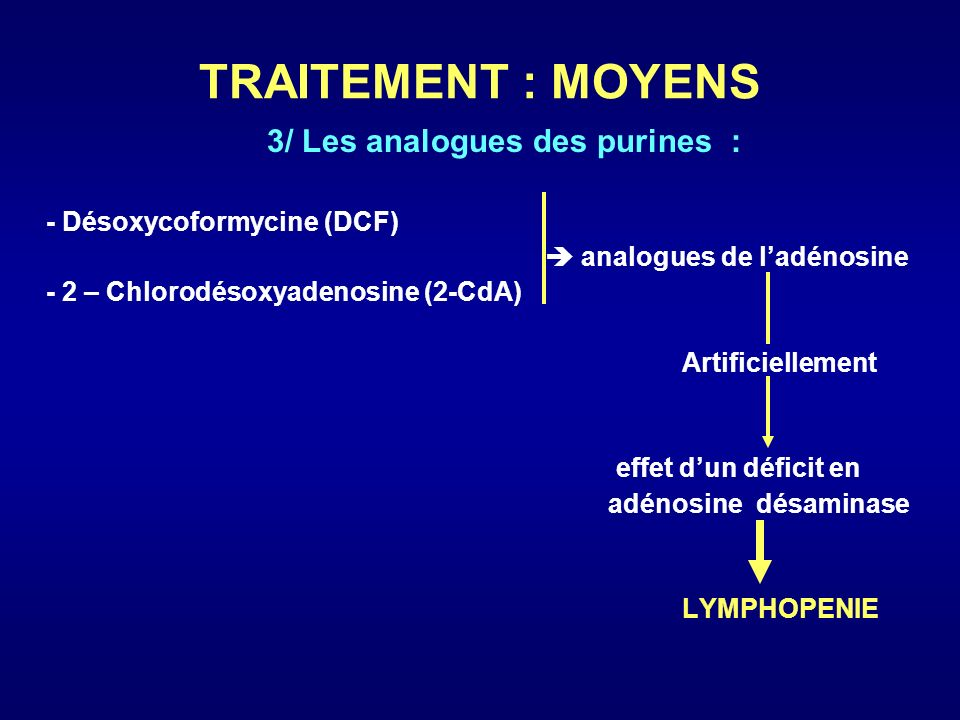 3/ Les analogues des purines :