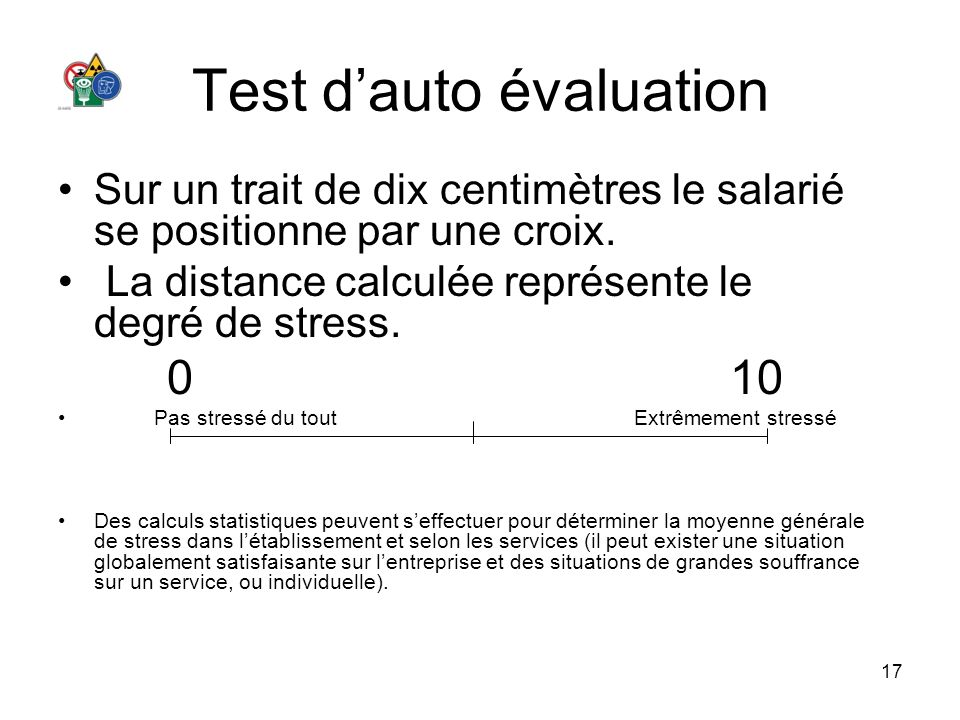 Test d'auto évaluation